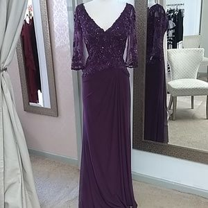 MGNY By Morilee // Eggplant Long Sequin Formal